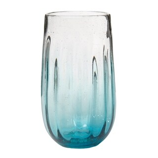Rosa Hiball Glass Aqua, Set of 6, 20 oz
