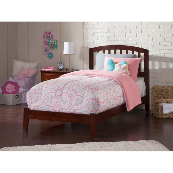 Richmond Twin XL Traditional Bed in Walnut