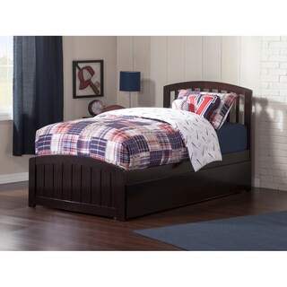 Richmond Twin Platform Bed with Matching Foot Board with Twin Size Urban Trundle Bed in Espresso