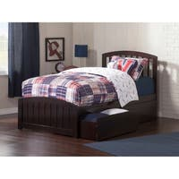Atlantic Furniture Richmond Espresso Twin XL Platform Bed with Matching Foot Board with 2 Urban Bed Drawers