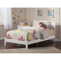 Orlando Twin XL Traditional Bed in White