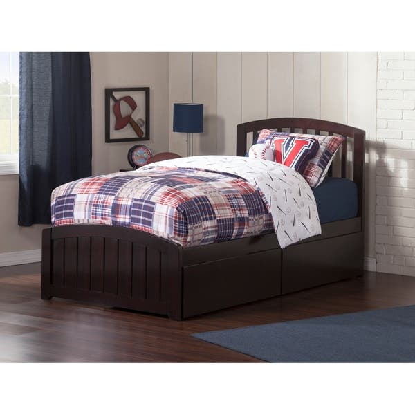 Richmond Twin Platform Bed With Matching Foot Board 2 Urban Drawers In Espresso