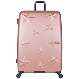 Aimee Kestenberg 28-inch Lightweight Star Embossed Hardside 4-Wheel Spinner Suitcase