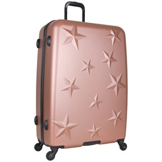 Aimee Kestenberg 28-inch Lightweight Star Embossed Hardside 4-Wheel Spinner Suitcase