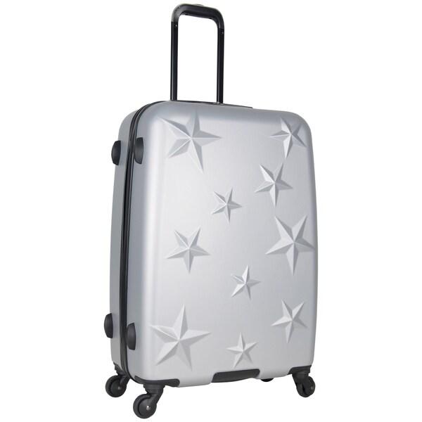 Aimee Kestenberg 24-inch Lightweight Star Embossed Hardside 4-Wheel Spinner Suitcase