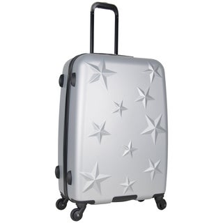 Aimee Kestenberg 24-inch Lightweight Star Embossed Hardside 4-Wheel Spinner Suitcase (3 options available)