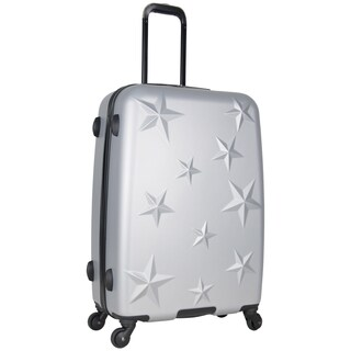 Aimee Kestenberg 24-inch Lightweight Star Embossed Hardside 4-Wheel Spinner Suitcase