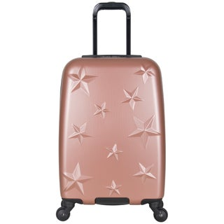 Aimee Kestenberg 20-inch Lightweight Star Embossed Hardside 4-Wheel Spinner Carry-On Suitcase