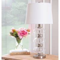 Abbyson Malaga Glass Orb 25-inch Table Lamp