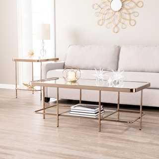 Sanmeyer Champagne Mirrored Cocktail Table