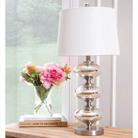Abbyson Grenada Silver Disc 25-inch Table Lamp