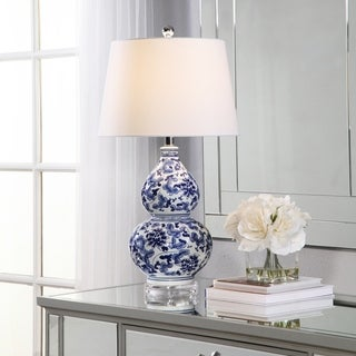 Abbyson Ginger Blue Floral Ceramic 27-inch Table Lamp