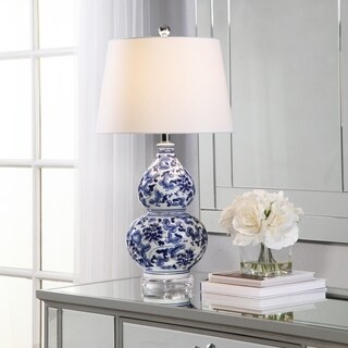 Abbyson Ginger Blue Floral Ceramic Table Lamp
