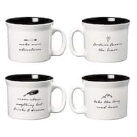 Wanderlust Coffee Mugs, Assorted Set of 4