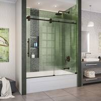 DreamLine Enigma-XO 55-59 in. W x 62 in. H Fully Frameless Sliding Tub Door