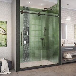 DreamLine Enigma-XO 56-60 in. W x 76 in. H Fully Frameless Sliding Shower Door