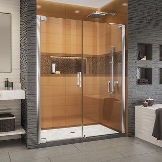 DreamLine Elegance-LS 63 3/4 - 65 3/4 in. W x 72 in. H Frameless Pivot Shower Door