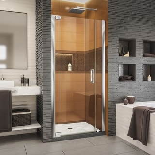 "DreamLine Elegance-LS 39 3/4 - 41 3/4 in. W x 72 in. H Frameless Pivot Shower Door - 39.75"" - 41.75"" W"