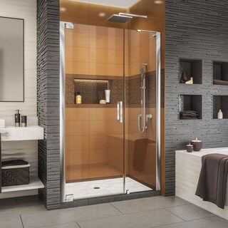 DreamLine Elegance-LS 44 3/4 - 46 3/4 in. W x 72 in. H Frameless Pivot Shower Door in Chrome