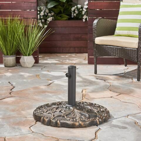 Clifton Outdoor Concrete Circular Umbrella Base by Christopher Knight Home