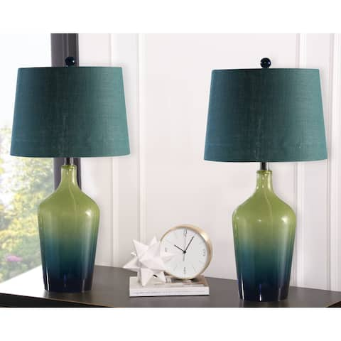 Sea Glass Ombre 28-inch Table Lamp (Set Of 2) By Abbyson