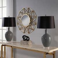 Abbyson Sumatra Grey Ceramic 27.5-inch Table Lamp (Set Of 2)