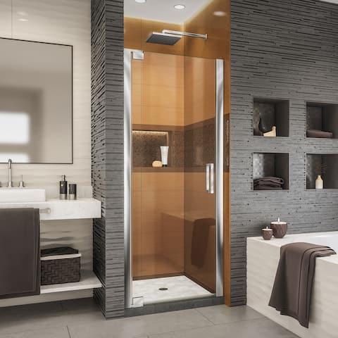 "DreamLine Elegance-LS 25 1/4 - 27 1/4 in. W x 72 in. H Frameless Pivot Shower Door - 25.25"" - 27.25"" W"