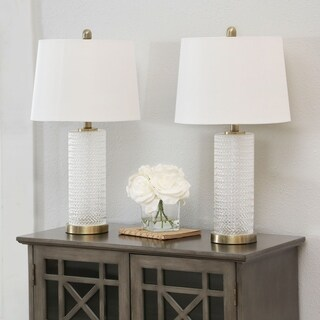 Abbyson Marni Textured Glass 26.5-inch Table Lamp (Set Of 2)