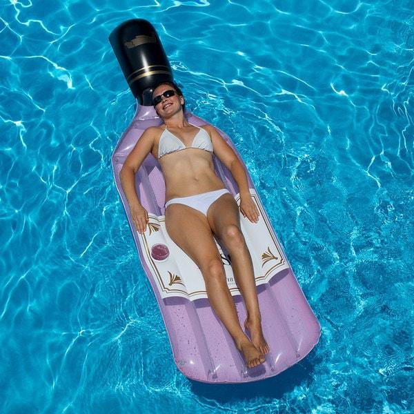 Shop Swimline Bottle Of Rose Swimming Pool Float Free