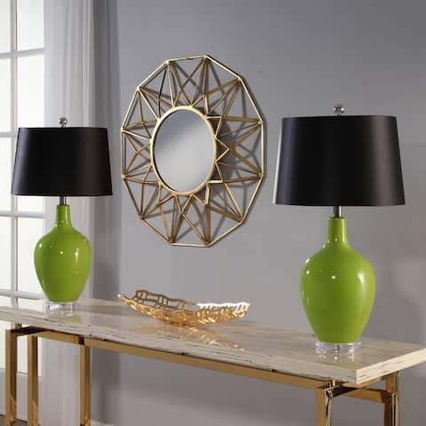 Abbyson Sumatra Green Ceramic 27.5-inch Table Lamp (Set Of 2)