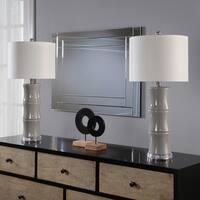 Abbyson Singapore Grey Ceramic Table Lamp Set Of 2