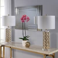 Abbyson Francesco Textured Gold Table Lamp Set Of 2
