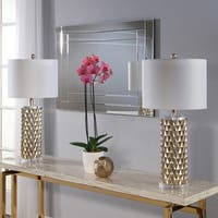 Abbyson Francesco Textured Gold 30-inch Table Lamp (Set Of 2)