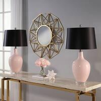 Abbyson Sumatra Pink Ceramic 27.5-inch Table Lamp (Set Of 2)