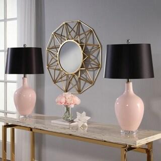 Abbyson Sumatra Pink Ceramic Table Lamp Set Of 2