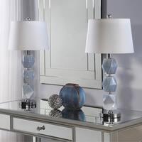 Abbyson Barcelona Grey Ceramic 20-inch Table Lamp (Set Of 2)