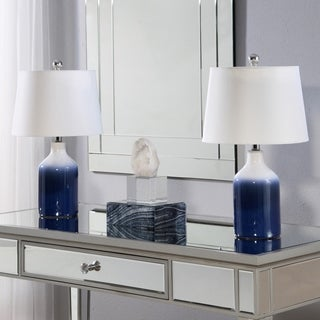 Abbyson Mikonos Blue Ceramic 20-inch Table Lamp (Set Of 2)