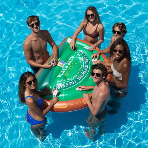 Swimline Blackjack Table With Waterproof Cards For Swimming Pools