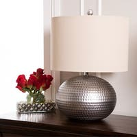Abbyson Hammered Pewter Finish 20-inch Table Lamp