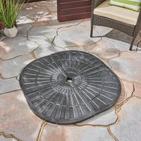Isla Outdoor Fan-Shaped Resin Umbrella Base (Set of 4) by Christopher Knight Home