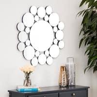 Abbyson Bubbles Round Wall Mirror