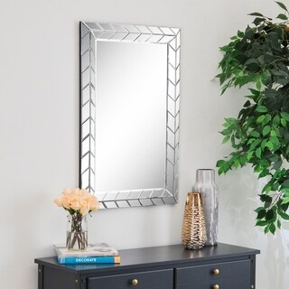 Abbyson Chevron Rectangle Wall Mirror