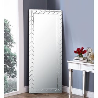 Abbyson Chevron Standing Floor Mirror