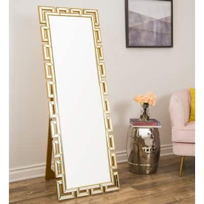 Abbyson Pierre Glam Gold Standing Floor Mirror