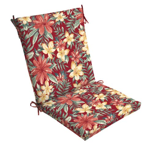 Arden Selections Ruby Clarissa Tropical Outdoor Chair Cushion - 44 in L x 20 in W x 3.5 in H