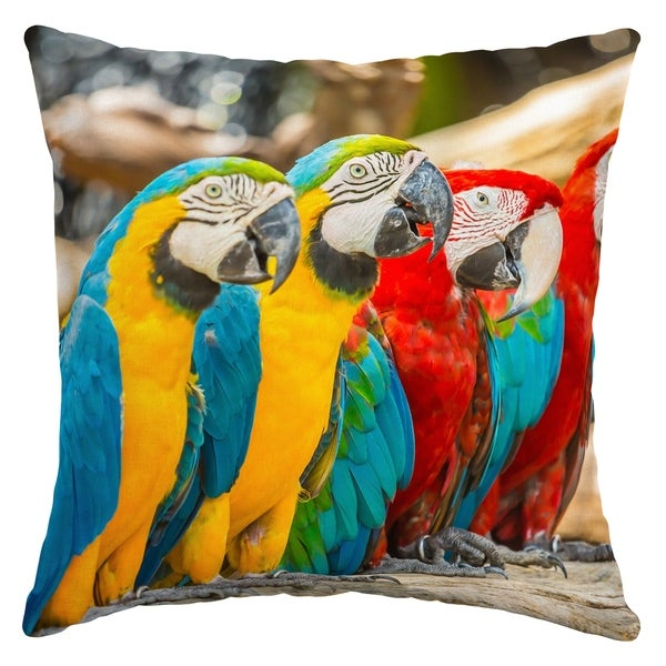 Shop Arden Selections Parrot Trio Outdoor Square Pillow Free
