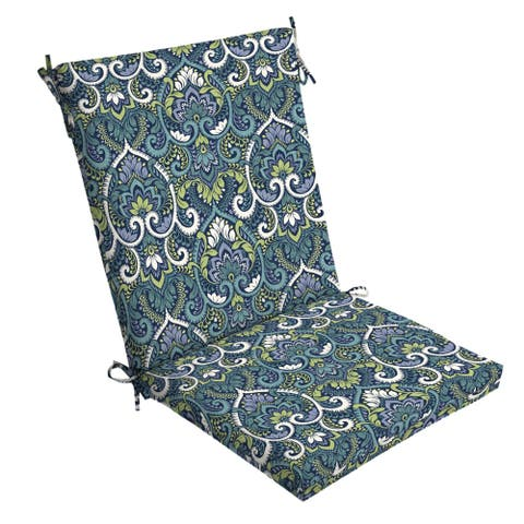 Arden Selections Sapphire Aurora Damask Dining Chair Cushion - 44 in L x 20 in W x 3.5 in H