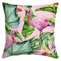 Arden Selections™ Fenicottero Watercolor Flamingo Outdoor Square Pillow