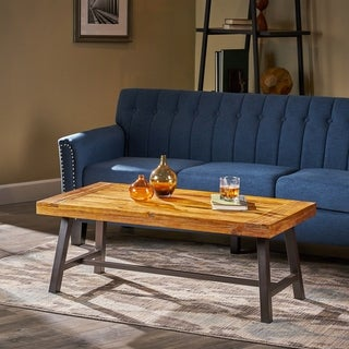 Liton Indoor Rustic Acacia Wood Coffee Table by Christopher Knight Home