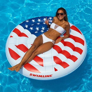 Swimline Americana Peace Island Extra Large Swimming Pool Float (2 options available)